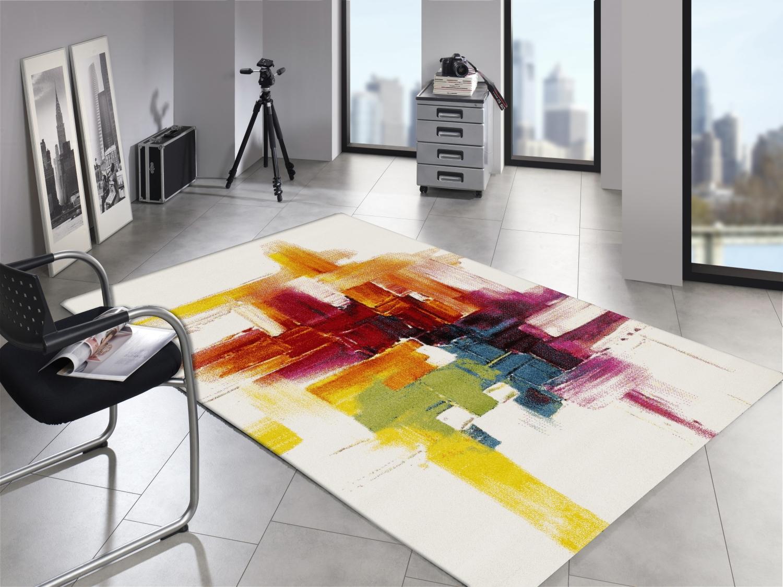 ARTWORK BRUSH Moderner Designer Teppich Bunt